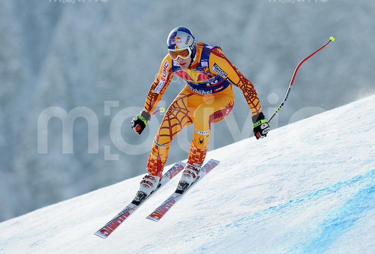 Ski Alpin;  Saison 2007/2008  22.01.2009 69. Hahnenkamm Rennen,  Abfahrt   2. Training   Erik Guay (CAN)