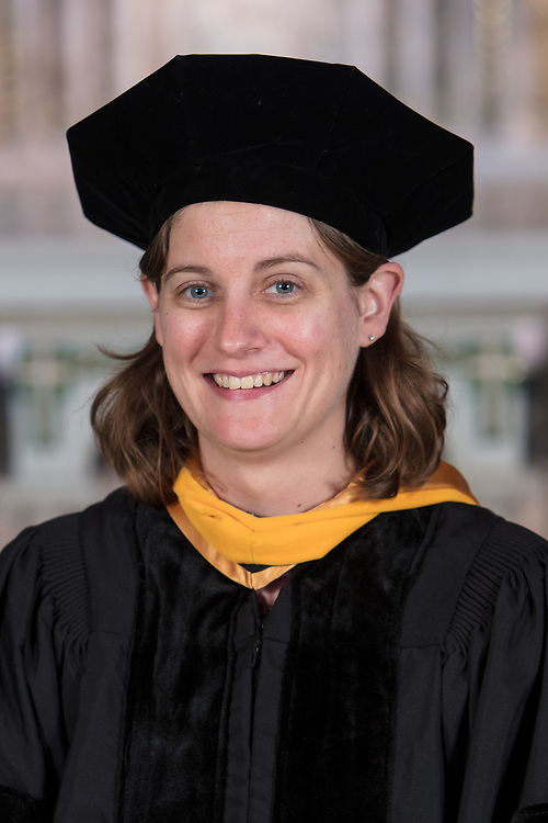 DePaul College of Science and Health faculty Caitlin Karver was promoted and tenured during DePaul's annual Academic Convocation at the St. Vincent de Paul Parish Church Thursday, Aug. 31, 2017. (DePaul University/Jeff Carrion)