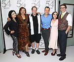 Erin Quill, Carmen Ruby Floyd, Jordan Gelber, John Tartaglia, Stephanie D'Abruzzo and Rick Lyon backstage at the 'Avenue Q' 15th Anniversary Reunion Concert at Feinstein's/54 Below on July 30, 2018 in New York City.