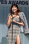 Japanese actress and fashion model Hikari Mori speaks during the 30th Japan Best Dressed Eyes Awards at Tokyo Big Sight on October 11, 2017, Tokyo, Japan. The event featured Japanese celebrities who were recognized for their fashionable eyewear. (Photo by Rodrigo Reyes Marin/AFLO)