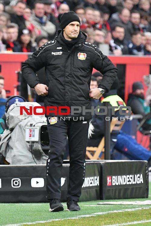 28.01.2018, BayArena, Leverkusen , GER, 1.FBL., Bayer 04 Leverkusen vs. 1. FSV Mainz 05<br /> im Bild / picture shows: <br /> Heiko Herrlich Trainer (Bayer Leverkusen),<br /> <br /> <br /> Foto &copy; nordphoto / Meuter