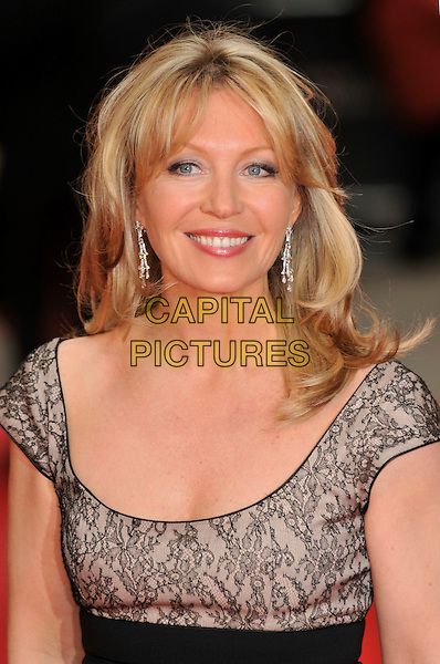 KIRSTY YOUNG.Red Carpet Arrivals for the British Academy Television Awards 2008, held at the London Palladium, London, England, April 20th 2008. .BAFTA BAFTA's portrait headshot black ace print grey gray.CAP/PL.©Phil Loftus/Capital Pictures