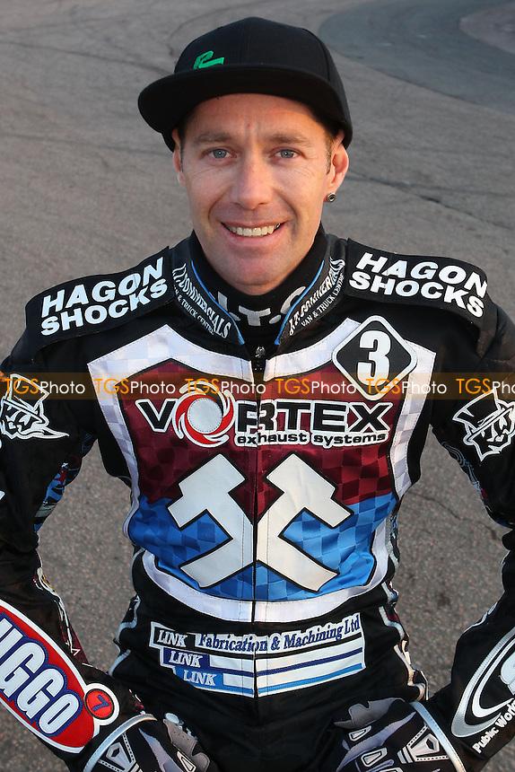 Davey Watt - Lakeside Hammers Speedway Press & Practice Day at Arena Essex Raceway, Purfleet, Essex - 25/03/14 - MANDATORY CREDIT: Gavin Ellis/TGSPHOTO - Self billing applies where appropriate - 0845 094 6026 - contact@tgsphoto.co.uk - NO UNPAID USE