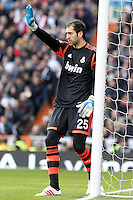 Real Madrid's Diego Lopez during La Liga match.March 02,2013. (ALTERPHOTOS/Acero) /NortePhoto
