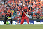 8th January 2018, The WACA, Perth, Australia; Australian Big Bash Cricket, Perth Scorchers versus Melbourne Renegades; Cameron White of the Melbourne Renegades plays a sweep shot to the boundary during his innings