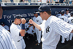 Alex Rodriguez, Masahiro Tanaka (Yankees),<br /> MARCH 4, 2015 - MLB : Alex Rodriguez high fives Masahiro Tanaka of the New York Yankees before a spring trainig baseball game against the Philadelphia Phillies at George M. Steinbrenner Field in Tampa, Florida, United States. (Photo by Thomas Anderson/AFLO) (JAPANESE NEWSPAPER OUT)