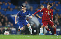 Chelsea's Billy Gilmour and Liverpool's Takumi Minamino<br /> <br /> Photographer Rob Newell/CameraSport<br /> <br /> The Emirates FA Cup Fifth Round - Chelsea v Liverpool - Tuesday 3rd March 2020 - Stamford Bridge - London<br />  <br /> World Copyright © 2020 CameraSport. All rights reserved. 43 Linden Ave. Countesthorpe. Leicester. England. LE8 5PG - Tel: +44 (0) 116 277 4147 - admin@camerasport.com - www.camerasport.com