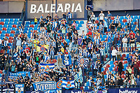 27th October 2019; Estadi Cuitat de Valencia, Valencia, Spain; La Liga Football, Levante versus Espanyol; Espanyol supporters celebrate their teams victory at the end of the game - Editorial Use
