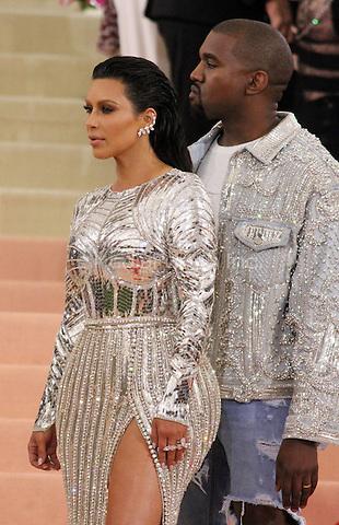 05 02 2016:  Kanye Wes, Kim Kardashian at Manus X Machina: Fashion In An Age of Technology at Metropolitan Museum of Art in New York. Credit:RWMediaPunch
