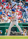 29 June 2017: Chicago Cubs catcher Willson Contreras in action against the Washington Nationals at Nationals Park in Washington, DC. The Cubs rallied to defeat the Nationals 5-4 and split their 4-game series. Mandatory Credit: Ed Wolfstein Photo *** RAW (NEF) Image File Available ***