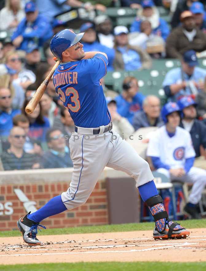 New York Mets Michael Cuddyer (23) during a game against the Chicago Cubs on May 14, 2015 at Wrigley Field in Chicago, IL. The Cubs beat the Mets 6-5.