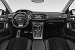 Stock photo of straight dashboard view of 2015 Peugeot 308 Feline 5 Door Hatchback Dashboard