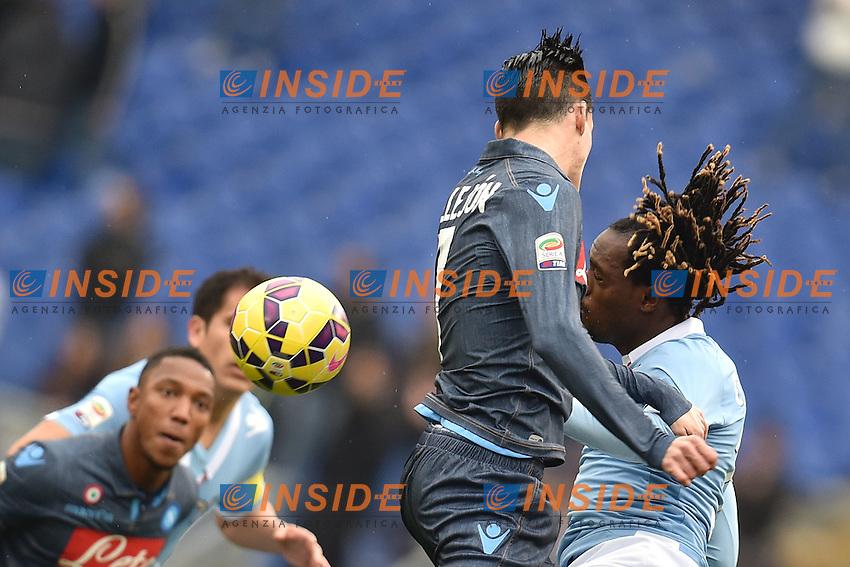 Jose Maria Callejon Napoli, Luis Pedro Cavanda Lazio <br /> Roma 18-01-2015 Stadio Olimpico, Football Calcio Serie A Lazio - Napoli. Foto Andrea Staccioli / Insidefoto