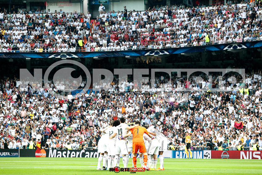Real Madrid's players during Champions League 2014/2015 Semi-finals 2nd leg match.May 13,2015. (ALTERPHOTOS/Acero) /NortePhoto.COM