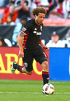 Washington, D.C. - April 23, 2016: D.C. United defeated the New England Revolution 3-0 during their Major League Soccer (MLS) match at RFK Stadium.