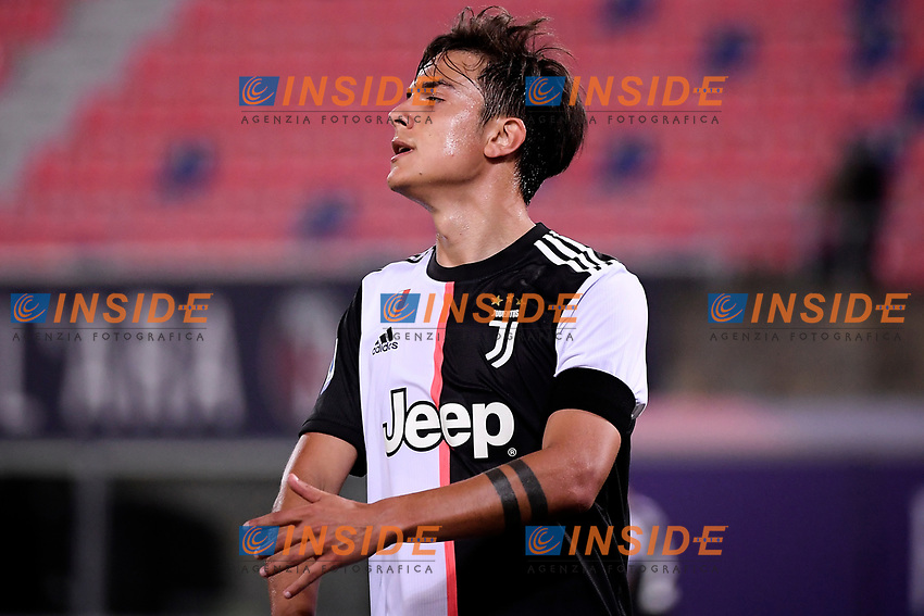 Paulo Dybala of Juventus reacts during the Serie A football match between Bologna FC and Juventus at Dall'Ara stadium in Bologna ( Italy ), June 22th, 2020. Play resumes behind closed doors following the outbreak of the coronavirus disease. <br /> Photo Federico Tardito / Insidefoto