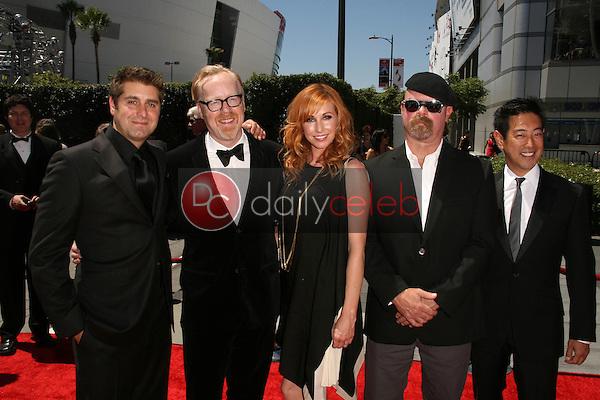 Tory Belleci, Adam Savage, Kari Byron, Jamie Hyneman and  Grant Imahara<br /> at the 2010 Primetime Creative Arts Emmy Awards,  Nokia Theater L.A. Live, Los Angeles, CA. 08-21-10<br /> David Edwards/DailyCeleb.com 818-249-4998