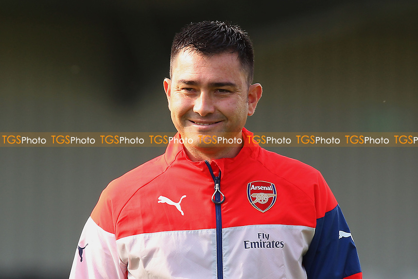 Arsenal Ladies manager Pedro Martinez Losa - Arsenal Ladies vs Liverpool Ladies - FA Womens Super League Football at Meadow Park, Boreham Wood FC  - 05/10/14 - MANDATORY CREDIT: Gavin Ellis/TGSPHOTO - Self billing applies where appropriate - contact@tgsphoto.co.uk - NO UNPAID USE
