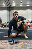 USA, Oahu, Hawaii, Jujitsu Martial Arts fighter at the ICON grappling tournament in Honolulu