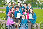 Students of Mercy Mounthawk Secondary School who are preparing for a fundraising concert on Friday night to raise funds for their trip to Kenya. Front l-r: Michelle Williams and Holly Kelliher. Middle l-r: Katelyn Galvin, John O'Donnell, Ciara Finnerty and Megan Tarrant. Back l-r: Eve Heim, Caoimhe Marley, Amy O'Donnell, Jack Holland and Julianne O'Leary.