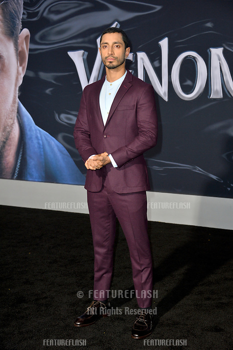 LOS ANGELES, CA. October 01, 2018: Riz Ahmed at the world premiere for &quot;Venom&quot; at the Regency Village Theatre.<br /> Picture: Paul Smith/Featureflash