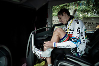 Daryl Impey (ZAF/Mitchelton-Scott) back on the teambus after another hard stage<br /> <br /> Stage 15: Limoux to Foix (185km)<br /> 106th Tour de France 2019 (2.UWT)<br /> <br /> ©kramon