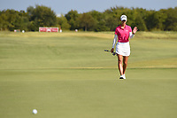 Cheyenne Knight (USA) waves to the crowd after parking her birdie attempt tight setting her up for the win during round 4 of the Volunteers of America Texas Classic, the Old American Golf Club, The Colony, Texas, USA. 10/6/2019.<br /> Picture: Golffile | Ken Murray<br /> <br /> <br /> All photo usage must carry mandatory copyright credit (© Golffile | Ken Murray)
