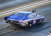 Sep 2, 2016; Clermont, IN, USA; NHRA pro mod driver Jim Whiteley during qualifying for the US Nationals at Lucas Oil Raceway. Mandatory Credit: Mark J. Rebilas-USA TODAY Sports