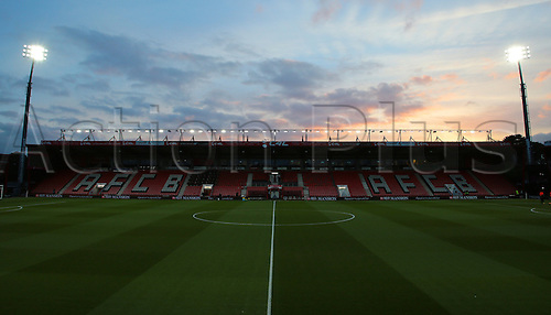 01.03.2016. Vitality Stadium, Bournemouth, England. Barclays Premier League. Bournemouth versus Southampton. The Vitality Stadium prepares for the match