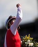 November 2, 2019: Spun to Run, ridden by Irad Ortiz Jr., wins the Big Ass Fans Breeders' Cup Dirt Mile on Breeders' Cup World Championship Saturday at Santa Anita Park on November 2, 2019: in Arcadia, California. Carolyn Simancik/Eclipse Sportswire/CSM