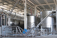 stainless steel tanks and roto-fermenters adega cooperativa de borba alentejo portugal