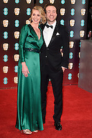 Elize du Toit &amp; Rafe Spall at the 2017 EE British Academy Film Awards (BAFTA) held at The Royal Albert Hall, London, UK. <br />