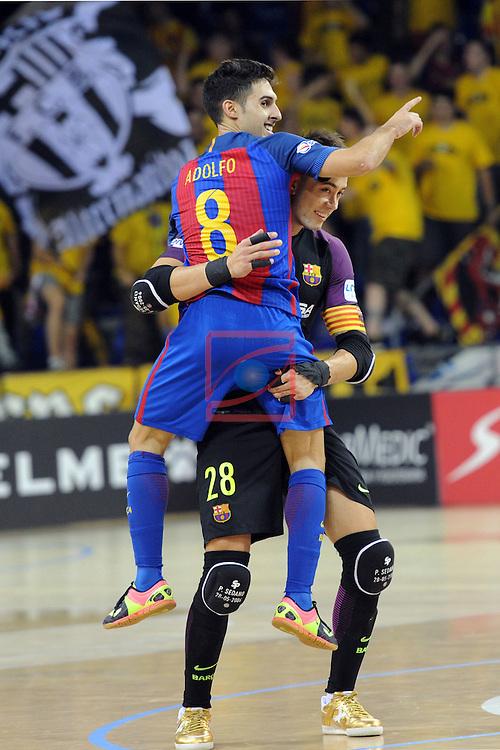League LNFS 2016/2017 - Game 4.<br /> FC Barcelona Lassa vs Gran Canaria FS: 4-2.<br /> Adolfo Fernandez &amp; Paco Sedano.