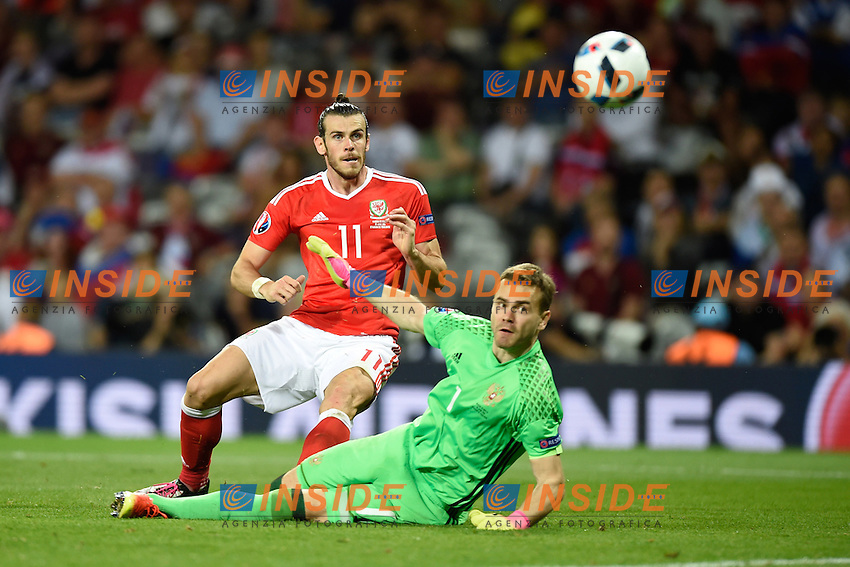 Gol Gareth Bale (wal) <br /> Toulouse 20-06-2016 Stade de Toulouse Football Euro2016 Russia - Wales / Russia - Galles Group Stage Group B. Foto Thierry Breton / Panoramic / Insidefoto
