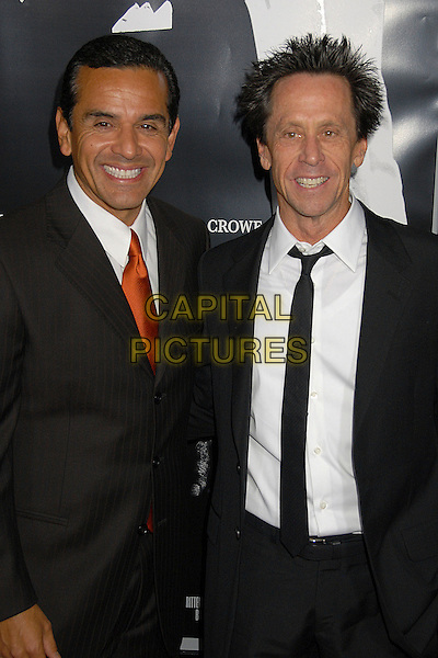 "ANTONIO VILLARAIGOSA (Mayor of Los Angeles) & BRIAN GRAZER.""American Gangster"" Industry Screening at Arclight Theatres, Hollywood, California, USA..October 29th, 2007.half length black suit jacket.CAP/ADM/BP.©Byron Purvis/AdMedia/Capital Pictures."