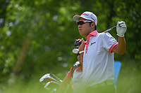 Hideki Matsuyama (JPN) watches his tee shot on 5 during round 3 of the AT&T Byron Nelson, Trinity Forest Golf Club, at Dallas, Texas, USA. 5/19/2018.<br /> Picture: Golffile | Ken Murray<br /> <br /> <br /> All photo usage must carry mandatory copyright credit (© Golffile | Ken Murray)