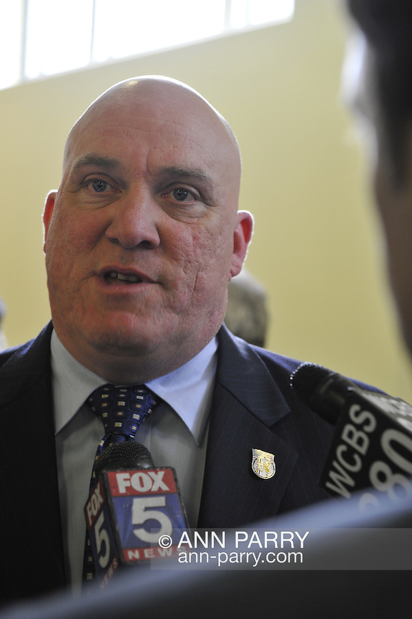Nassau County Legislature, controlled by Republicans, votes along party lines to consolidate 8 police precincts into 4, on Monday, March 5, 2012, at Mineola, New York, USA. Thomas Dale was confirmed as Nassau County Police Commissioner earlier that meeting.