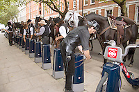 20 September 2016 - London, England - Wild West End Magnificent Seven Photo Stunt. Photo Credit: Alpha Press/AdMedia