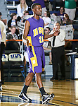 Hardin-Simmons Cowboys forward Aaron Thornton (21) in the game between the UTA Mavericks and the Hardin-Simmons Cowboys held at the University of Texas in Arlington's Texas Hall in Arlington, Texas. UTA defeats Hardin-Simmons 88 to 71.