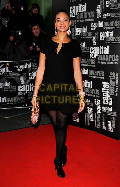 ALESHA DIXON.Arrive for the Capital Radio 95.8 FM Awards in aid of Help a London Child, held at Riverbank Park Plaza Hotel, London, England 20th March 2008. .full length black dress.CAP/CAN.©Can Nguyen/Capital Pictures