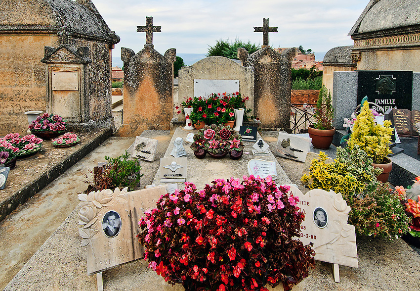 A portion of the cemetery of Roussillon