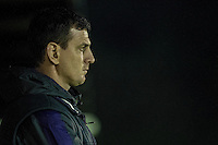 Friday  16 December 2014<br /> Pictured:  Swansea Manager Chris Llewelyn <br /> Re: Swansea City U18s v Wolverhampton Wonderers U18s, 3rd Round FA youth Cup Match at the Landore Training Facility, Swansea, Wales, UK