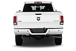 Straight rear view of a 2015 Ram 2500 Laramie Mega Cab 4 Door Truck Rear View  stock images