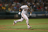 OAKLAND, CA - AUGUST 1:  Brandon Crawford #35 of the San Francisco Giants runs to first base against the Oakland Athletics during the game at the Oakland Coliseum on Tuesday, August 1, 2017 in Oakland, California. (Photo by Brad Mangin)