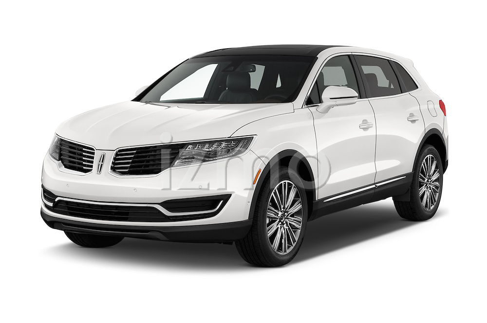 2018 Lincoln MKX Black Label 5 Door Suv Angular Front stock photos of front three quarter view