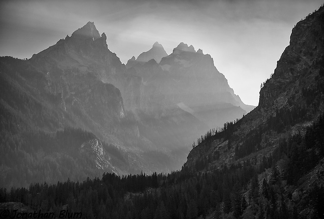 Smoke in the Tetons, Grand Teton National Park