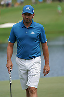 Sergio Garcia (ESP) on the 17th green during Wednesday's Practice Day of the 2017 PGA Championship held at Quail Hollow Golf Club, Charlotte, North Carolina, USA. 9th August 2017.<br /> Picture: Eoin Clarke | Golffile<br /> <br /> <br /> All photos usage must carry mandatory copyright credit (&copy; Golffile | Eoin Clarke)
