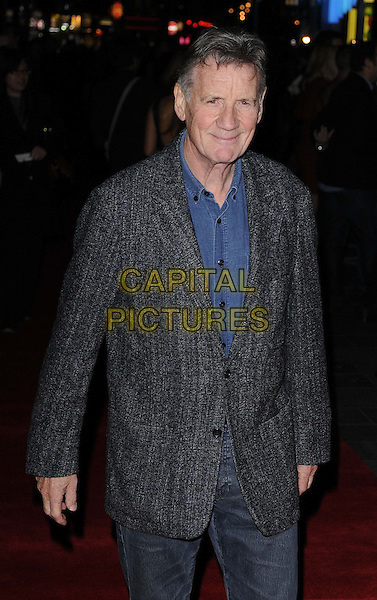 "Michael Palin.The ""A Liar's Autobiography 3D"" Cult gala screening, the 56th BFI London Film Festival day 7, Empire cinema, Leicester Square, London, England..October 16th, 2012.half length grey gray jacket blue shirt jeans denim.CAP/CAN.©Can Nguyen/Capital Pictures."