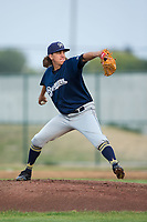 Helena Brewers starting pitcher Dylan File (27) in action against the Great Falls Voyagers at Centene Stadium on August 19, 2017 in Helena, Montana.  The Voyagers defeated the Brewers 8-7.  (Brian Westerholt/Four Seam Images)