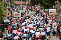 Peloton up the infamous Mur de Huy<br />